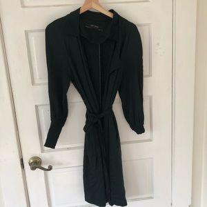 Zara Olive Green Trench Coat